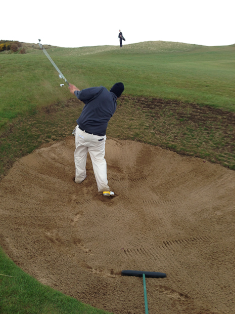 Mike. Oh, those bunkers!