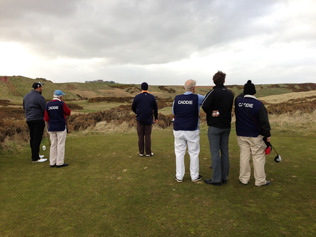 The caddies in Scotland added so much to the experience.
