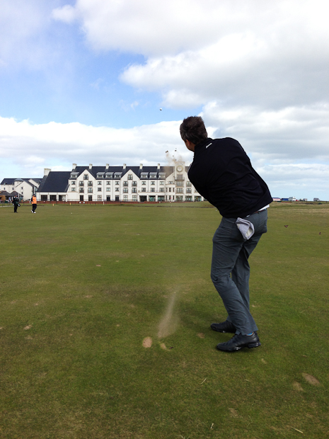 Steve, 18th hole, Carnoustie