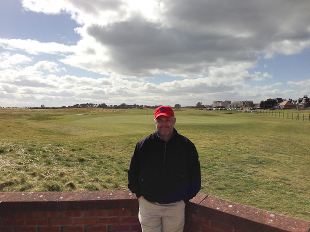 Me, after our round at Carnoustie