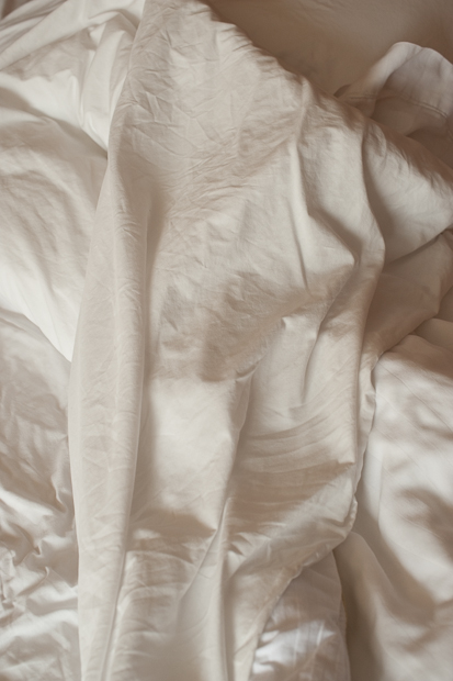 Series on hotel beds, the morning after